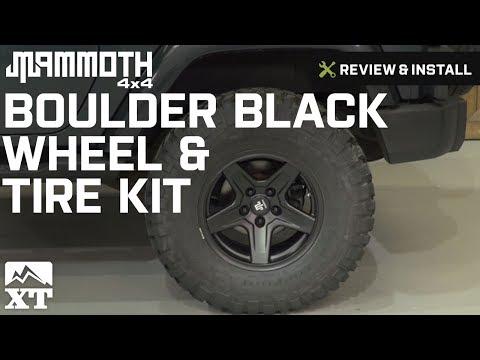 Jeep Wrangler Mammoth Boulder Black Wheel & Tire Kit (2007-2016 JK) Review & Install