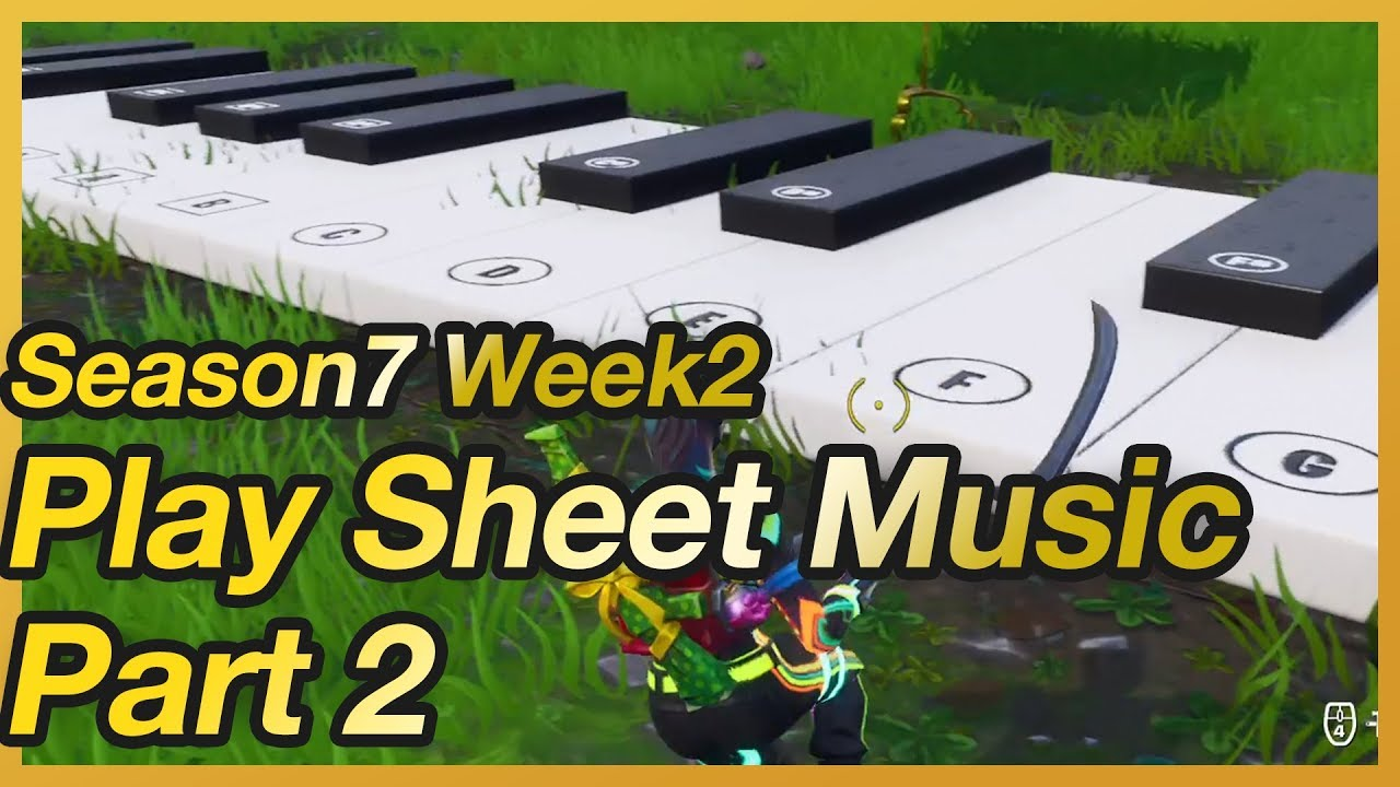 Fortnite Season 7 Week 2 Play Sheet Music Challenge Location Pt