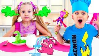 Diana와 Roma Magic Food는 색상을 배우기 위해