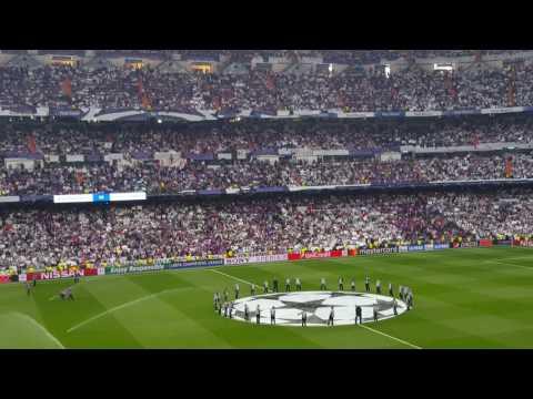 El Bernabeu canta a capela Hala Madrid Y Nada Mas Real M - Atletico M CL 2-5-17