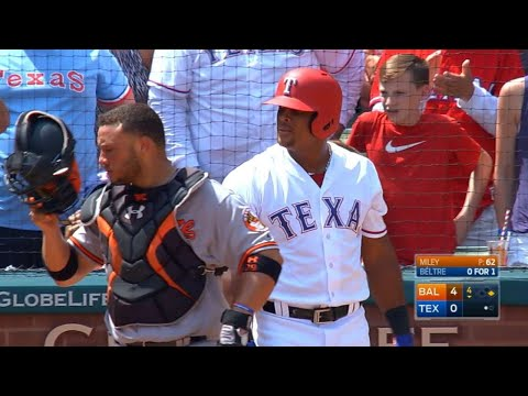 Beltre Doubles To Join The 3,000-hit Club