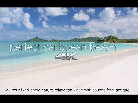 PERFECT CARIBBEAN BEACH in 4K | Antigua | 1 HR Static Screensaver Scene by Nature Relaxation™