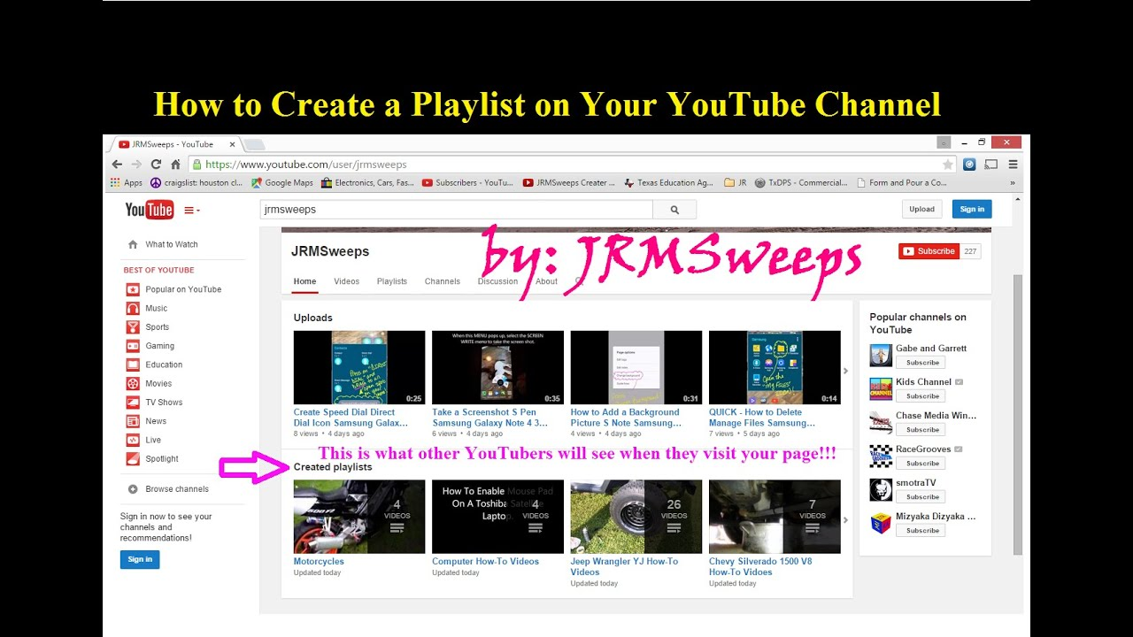 how do i make a playlist on my iphone how to add make create a playlist on your channel 6653