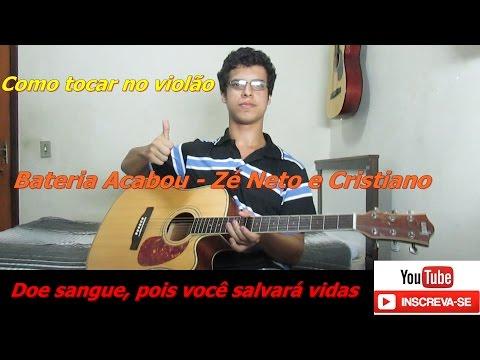 Aula De Violão: BATERIA ACABOU - Zé Neto e Cristiano part. Marília Mendonça (Como Tocar)