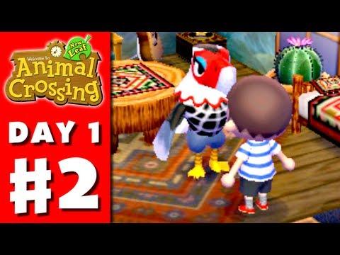 Animal Crossing: New Leaf - Part 2 - Meeting the Townsfolk (Nintendo 3DS Gameplay Walkthrough Day 1)