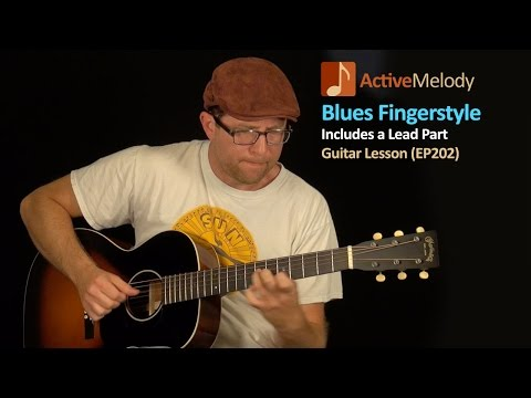 Blues Guitar Lesson - Fingerstyle Blues (both Rhythm and Lead) - EP202