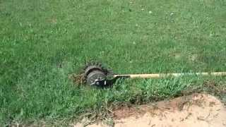 LAWNtalk101!!!!ep:How to use a AMES Rotary Edger!!!:for your yard!!!!