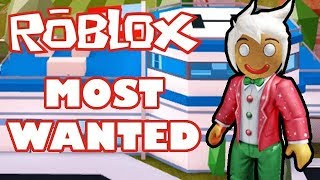 Roblox Jailbreak The Most Wanted Gingerbread Man