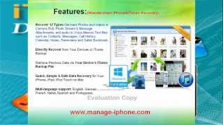 iPhone&iTunes data recovery-recover iPhone lost Contacts,SMS,Video,Music