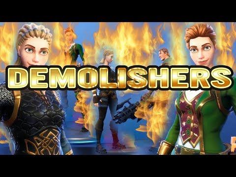 Fortnite DEMOLISHERS   Saint Patrick's Day Heroes   Demolisher Class   Max Level Class Gameplay