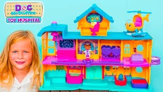 Assistant Unboxes the Doc McStuffins Toy Hospital Play Set