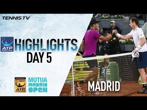 Highlights: Coric Ousts Murray; Djokovic, Nadal, Thiem Reach Madrid 2017 QF