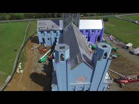 Christ the King Chapel Construction | April 2020 | Slate Roof