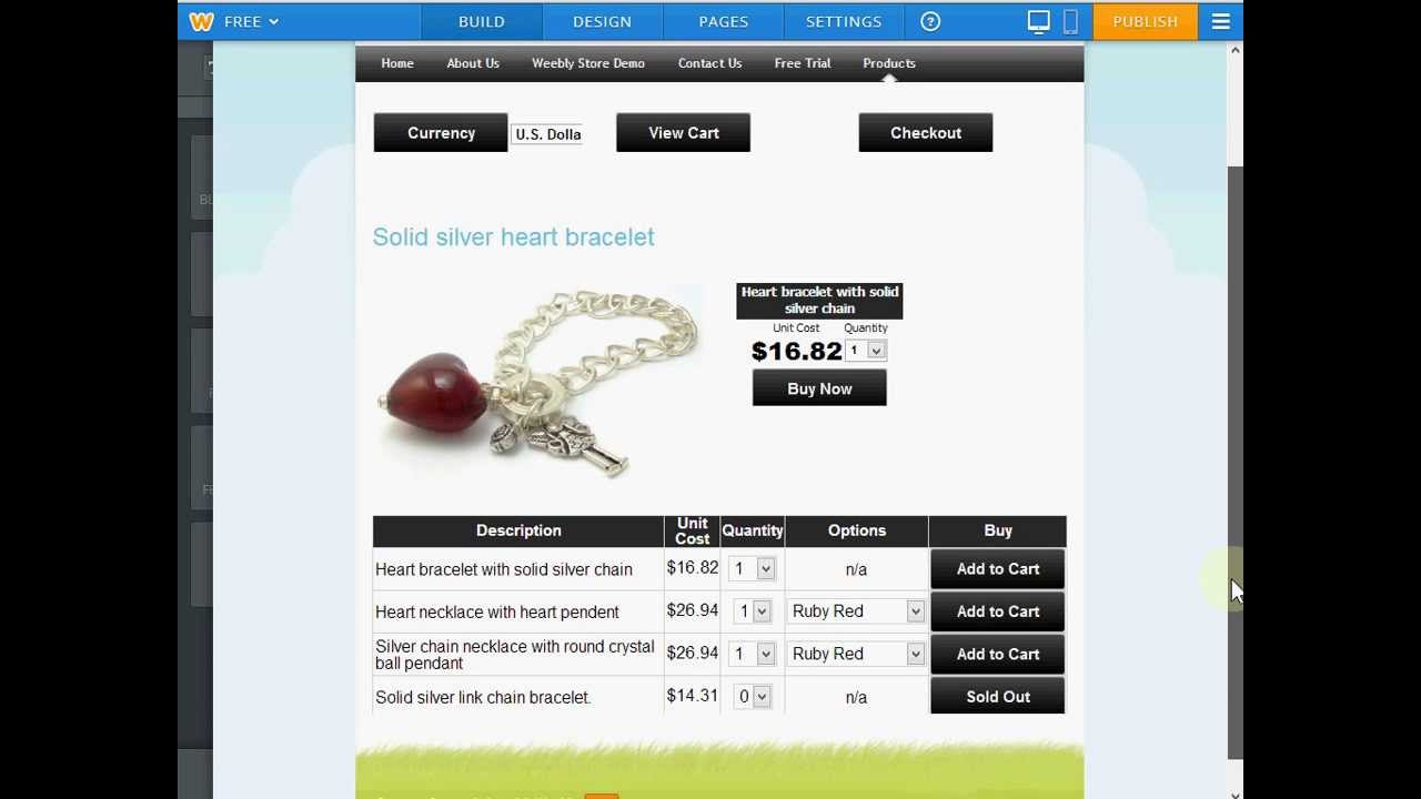 weebly for ecommerce