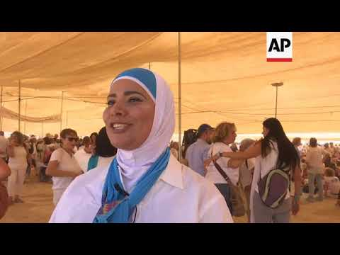 Thousands of woman join desert march for MidEast peace