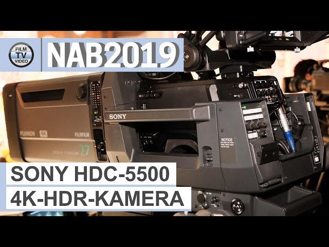 NAB2019: 4K-HDR-Studiokamera Sony HDC-5500