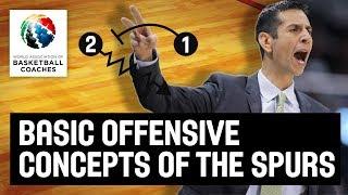 San Antonio Spurs' Basic Offensive Concepts - James Borrego - Basketball Fundamentals