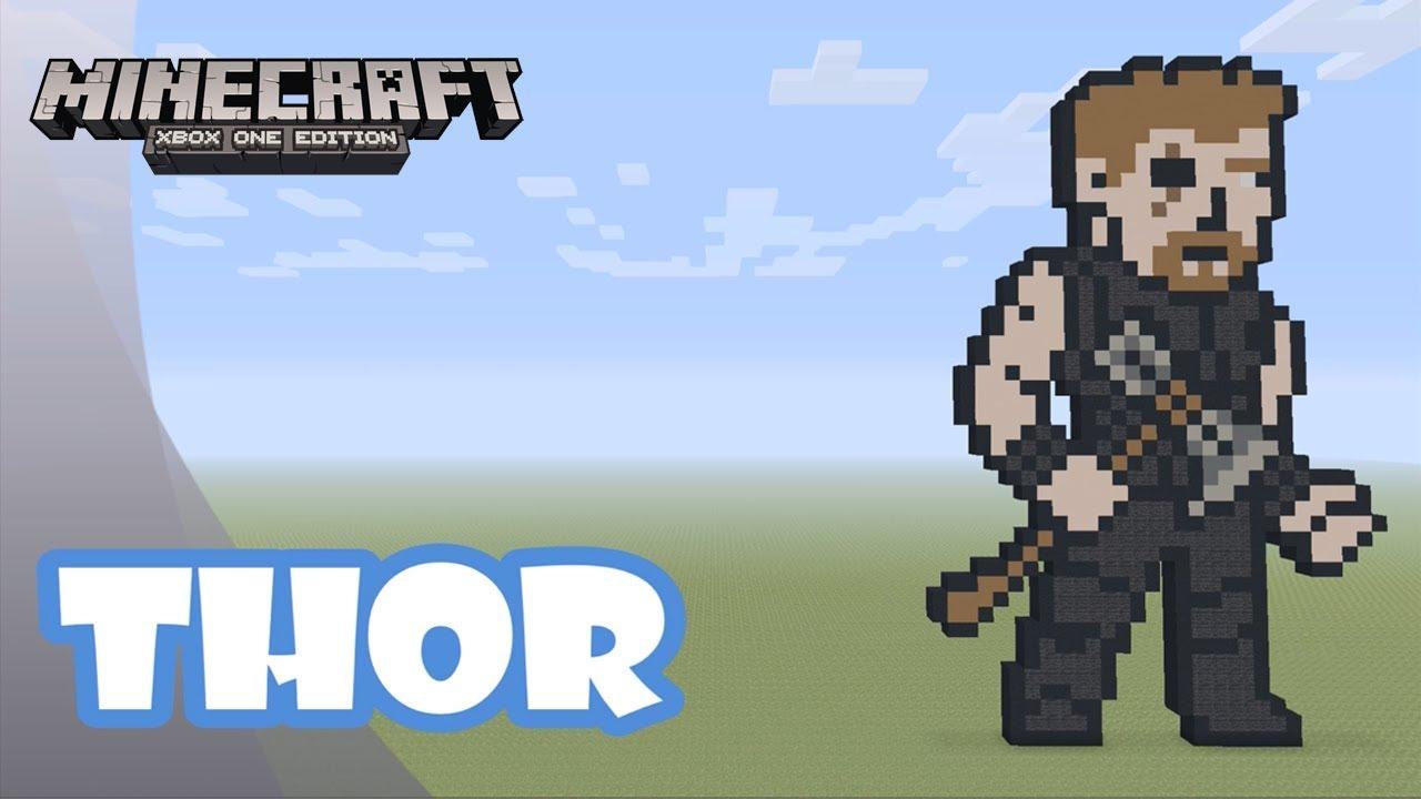 Minecraft Pixel Art Tutorial And Showcase Thor Avengers Infinity War