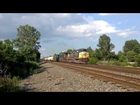 Yard slug 1806(CSX) trails on CSX Q363 with a nice crew