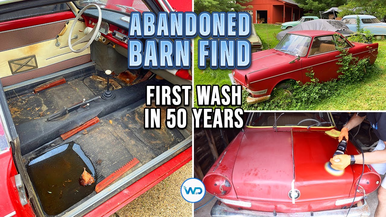 ABANDONED BARN FIND First Wash In 50 Years BMW 700 Coupe! Satisfying Car Detailing Restoration