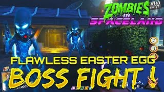 FULL ZOMBIES IN SPACELAND FLAWLESS BOSS FIGHT! - Infinite Warfare Zombies Easter Egg Ending!