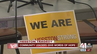 Repeat youtube video Kansas town grieves shooting with 'Hesston Hustler Strong'