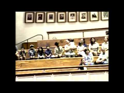 Club Scouts from Pack 126 in Kapolei visit the Hawaii State Capitol