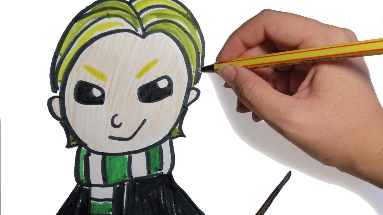 Como Dibujar A Draco De Harry Potter Kawaii Facil Paso A Paso