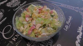 Друзья сегодня мы приготовим замечательный салат из крабовых палочек к новогоднему столу