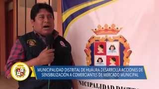 09 11 DISTRITO DE HUAURA reunion con los comerciantes del mercado de abastos de Huaura