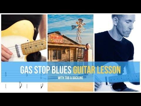 Gas Stop Blues - Rhythm Guitar Lesson [Free tab + backing track]