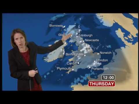 Nina Ridge BBC Weather December 1st 2010 in HD!