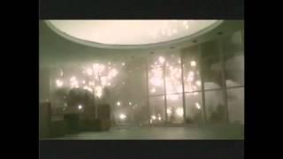 godzilla stomps through a lobby loop