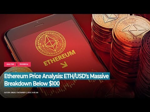 Ethereum Price Analysis: ETH/USD's Massive Breakdown Below $100