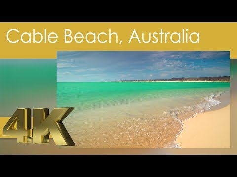 4K Beaches of Australia Relaxing Cable Beach, Broome, Australia with White Noise