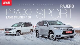 Mitsubishi Pajero Sport и Toyota Land Cruiser Prado в поле