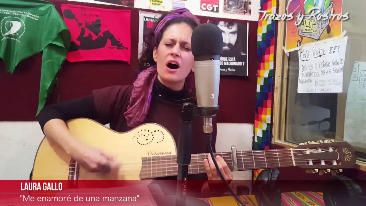 """Trazos y Rostros - Néstor Elias / Laura Gallo """"Me enamoré de una manzana"""""""