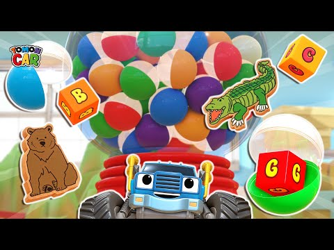 Find Animals In Capsules | Capsule Extraction With Friends | Cartoon For Kids Tomoncar World