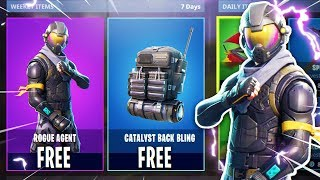 NEW FREE *LEGENDARY* Rogue Agent STARTER PACK & Catalyst Back Bling in Fortnite!
