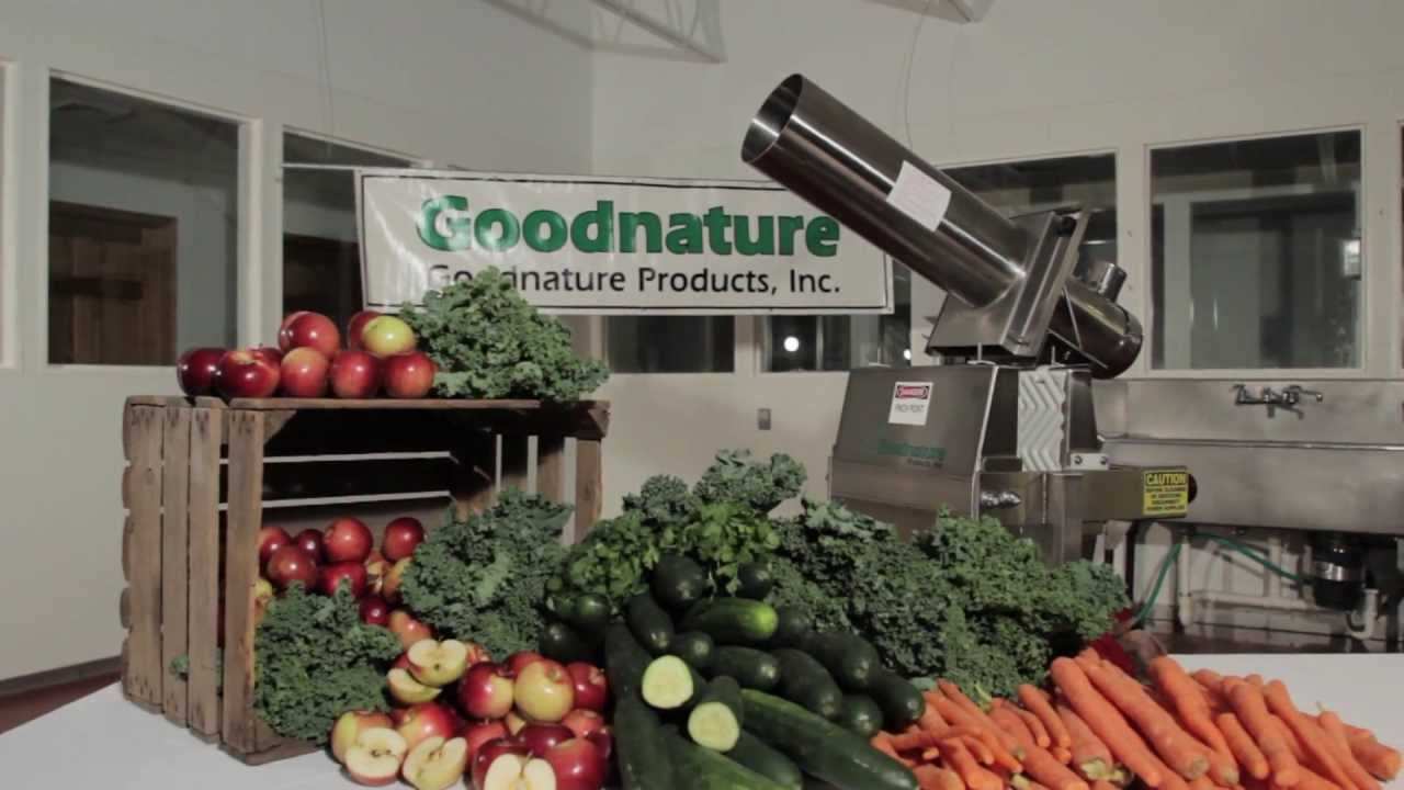 Cold Pressed Juice >> X-1 Commercial Cold Press Juicer | Goodnature X1 - YouTube