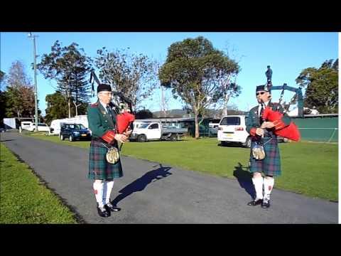 Advance Australia Fair with Bagpipes