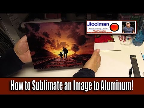 How to Sublimate an Image to Aluminum!