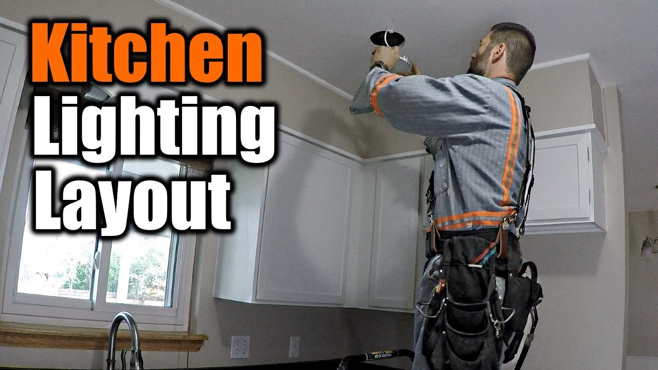 Kitchen Lighting Layout And Install   THE HANDYMAN  