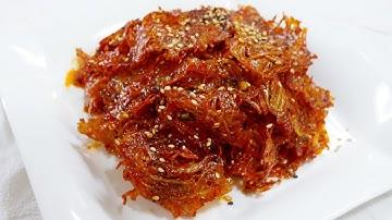 뱅어포볶음 ( Dried slices of seasoned whitebait )