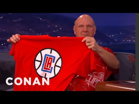 Steve Ballmer Unveils The New LA Clippers Logo  - CONAN on TBS
