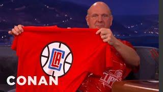 Steve Ballmer Unveils The New LA Clippers Logo  - CONAN on TBS