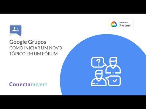 Como iniciar um novo tópico em um fórum no Google