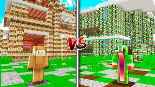 MOOSECRAFT HOUSE vs UNSPEAKABLEGAMING HOUSE! - MINECRAFT