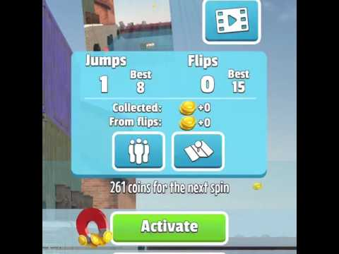 Flip diving/coin glitch