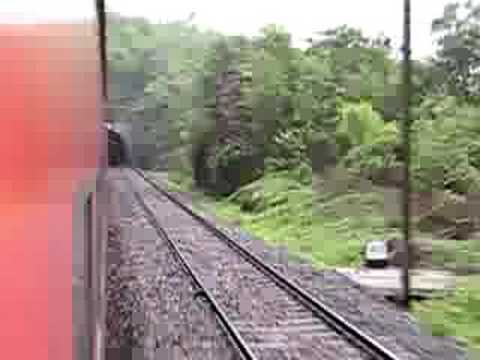 Gurpa Gujhandi Ghat Section: Sealdah Rajdhani Express Crosses the Chhota Nagpur Hills